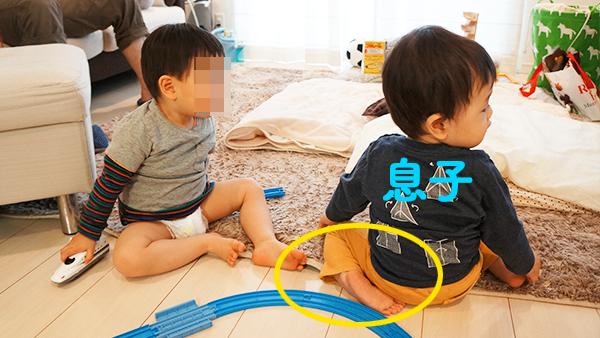息子の幼き日のプラレール遊び1