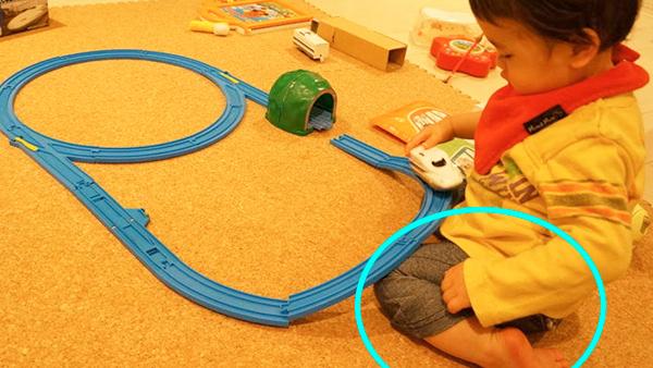息子の幼き日のプラレール遊び2
